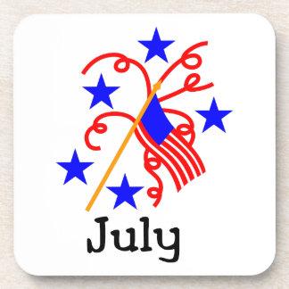 7月4日の旗 コースター