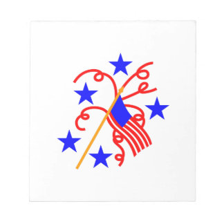 7月4日の旗 ノートパッド