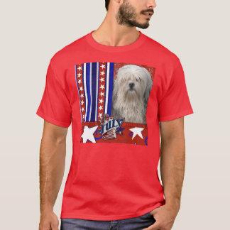 7月4日の爆竹- Lowchen Tシャツ