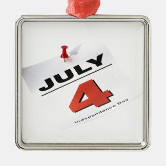 7月4日の独立記念日 メタルオーナメント