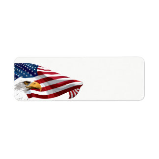 7月4日の米国旗およびワシ ラベル