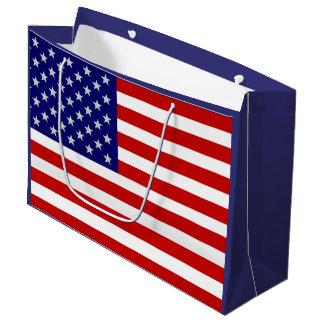 7月4日の米国旗米国LGB ラージペーパーバッグ