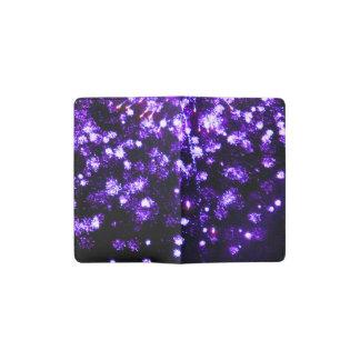 7月4日の紫色の花火の破烈 ポケットMoleskineノートブック