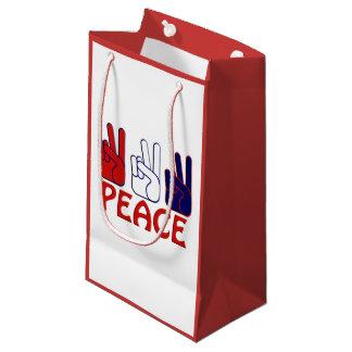 7月4日の赤く白く及び青の平和SGB スモールペーパーバッグ