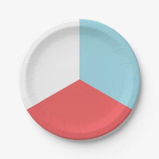 7月4日の赤白青の紙皿 ペーパープレート