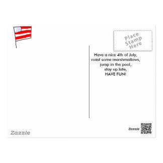 7月4日の郵便はがき ポストカード