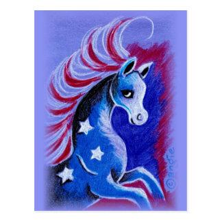 7月4日の馬 ポストカード