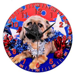 7月4日-ブリュッセルGriffon -オリバー ラージ壁時計