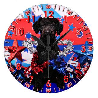 7月4日-最高YorkiePoo - ラージ壁時計