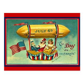7月4日-私達が祝う日 ポストカード