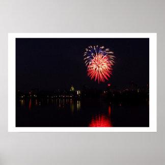 7月4日Harrisburg、PA上の2010の花火 ポスター