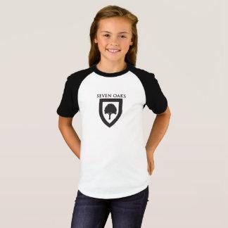 7本のカシ-野球のティー(女の子) Tシャツ