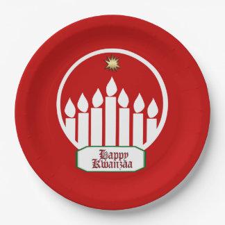 7枚の幾日のKwanzaaの明るいパーティーの紙皿 ペーパープレート