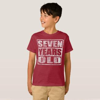 7歳-幸せな第7誕生日のTシャツ Tシャツ