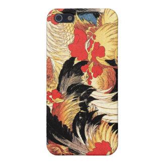 7羽のオンドリ、Hokusai iPhone 5 Case