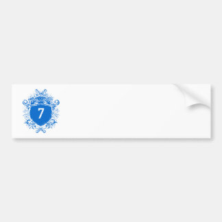 #7青の盾 バンパーステッカー