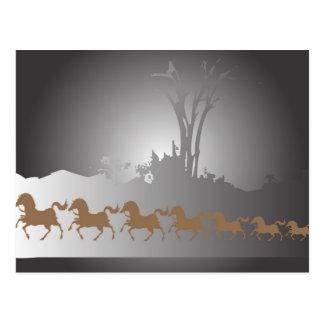 7頭の馬 ポストカード