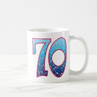 70の年齢の激賞 コーヒーマグカップ