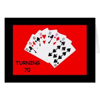 70を回すことは大事のバースデー・カードです カード
