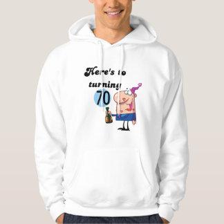 70個の誕生日のTシャツおよびギフトへの応援 パーカ