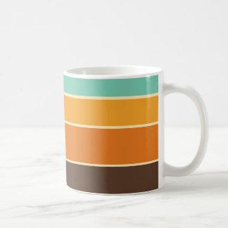 70年代のスタイルのレトロのストライプのマグ コーヒーマグカップ