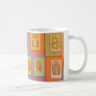 70年代のヴィンテージのフクロウ コーヒーマグカップ