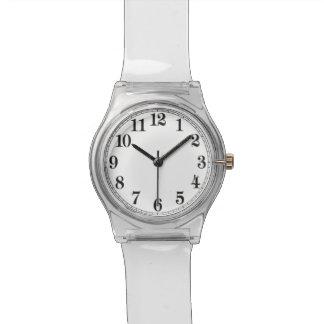 70年代の澄んなルーサイトのレトロの腕時計に戻る! 腕時計