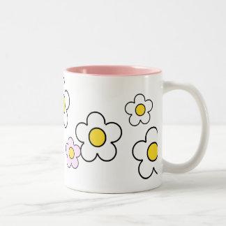 70年代の花のシンプルなN°2マグ ツートーンマグカップ
