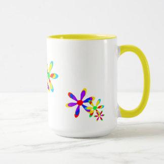 70年代の花のファンタジーのマグ マグカップ
