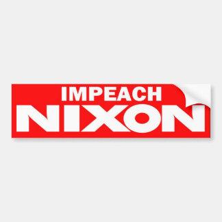 70年代はニクソンのヴィンテージのバンパーステッカーを弾劾します バンパーステッカー