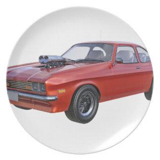 70年代赤い筋肉車 プレート