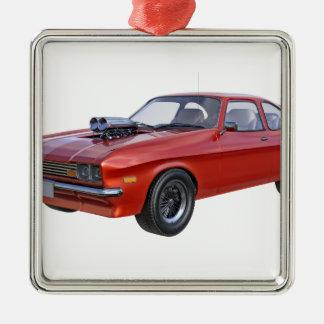 70年代赤い筋肉車 メタルオーナメント