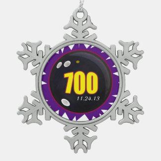 700のボーリングをするシリーズ スノーフレークピューターオーナメント