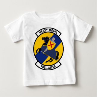 703rd航空機整備の艦隊-重金属 ベビーTシャツ