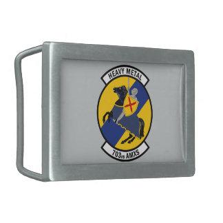 703rd航空機整備の艦隊-重金属 長方形ベルトバックル