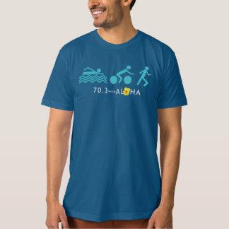 70.3アロハ人のオーガニックなTシャツ-暗闇を使って+Bk Tシャツ