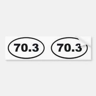 70.3マイルの半分のトライアスロン バンパーステッカー