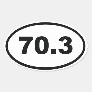 70.3マイルの半分のトライアスロン 楕円形シール