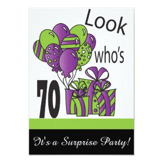 70% pipe%の第70誕生日はだれであるか見て下さい カード