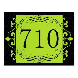 710市外局番 ポストカード