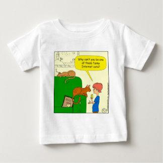 727おもしろいなインターネット猫の漫画 ベビーTシャツ