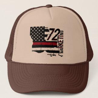 72marketingは赤線トラック運転手の帽子ルイジアナを薄くします キャップ