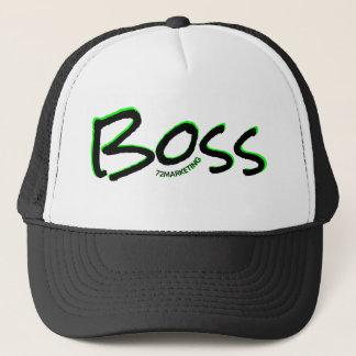 72marketingロゴのトラック運転手の帽子のボス キャップ
