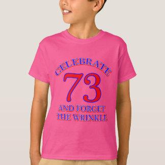 73の誕生日のデザイン Tシャツ