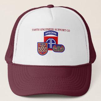 738TH ENGINEER SUPPORT COMPANY第82の空輸の帽子 キャップ