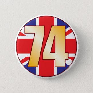 74イギリスの金ゴールド 5.7CM 丸型バッジ