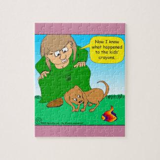 740カラフルの子犬のウンチの漫画 ジグソーパズル