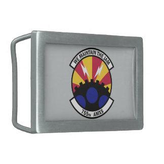755th航空機整備の艦隊 長方形ベルトバックル