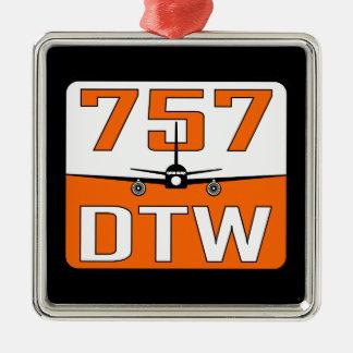 757 DTWのクリスマスツリーのオーナメント メタルオーナメント