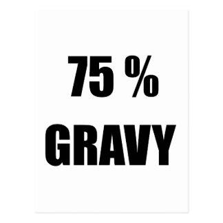 75%のグレービー ポストカード